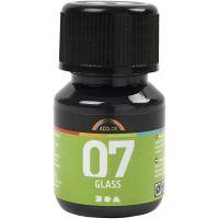 A-Color Glass Paint, black, 30 ml/ 1 bottle
