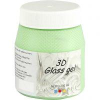 3D Glass Gel, green, 250 ml/ 1 tub