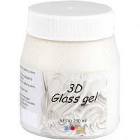 3D Glass Gel, ivory, 250 ml/ 1 tub