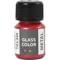 Glass Color Metal, red, 30 ml/ 1 bottle
