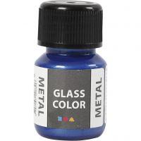 Glass Color Metal, blue, 30 ml/ 1 bottle