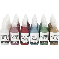 Glitter Glue, 36x25 ml/ 1 pack