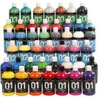 A-Color Acrylic Paint, assorted colours, 45x500 ml/ 1 pack