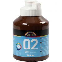 School acrylic paint matte, matt, brown, 500 ml/ 1 bottle
