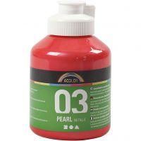 Skole akrylmaling metallic, metallic, red, 500 ml/ 1 bottle