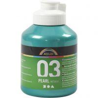 Skole akrylmaling metallic, metallic, green, 500 ml/ 1 bottle