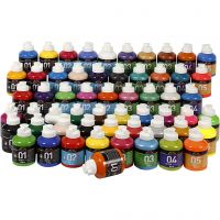 A-Color Acrylic Paint, assorted colours, 57x500 ml/ 1 pack