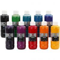 Textil Silk Paint, 10x250 ml/ 1 pack