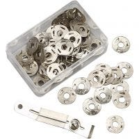 3-pronged Silk Pins, H: 2 mm, D: 12 mm, 100 pc/ 1 pack