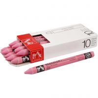 Neocolor I Crayons, L: 10 cm, thickness 8 mm, pink (081), 10 pc/ 1 pack