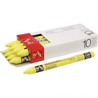 Neocolor I Crayons, L: 10 cm, thickness 8 mm, lemon yellow (240), 10 pc/ 1 pack
