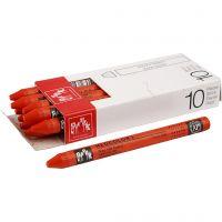 Neocolor I Crayons, L: 10 cm, thickness 8 mm, vermilion (060), 10 pc/ 1 pack