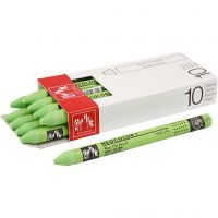 Neocolor I Crayons, L: 10 cm, thickness 8 mm, yellow green (230), 10 pc/ 1 pack