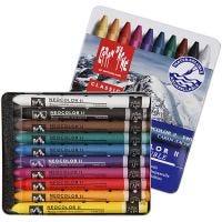 Neocolor II, L: 10 cm, assorted colours, 10 pc/ 1 pack