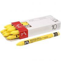 Neocolor II, L: 10 cm, yellow (010), 10 pc/ 1 pack