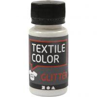 Textile Color Paint, glitter, transparent, 50 ml/ 1 bottle