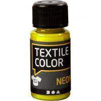 Textile Color Paint, neon yellow, 50 ml/ 1 bottle