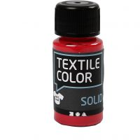 Textile Solid, opaque, red, 50 ml/ 1 bottle