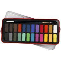 Watercolor Paint Set, size 12x30 mm, assorted colours, 24 colour/ 1 pack