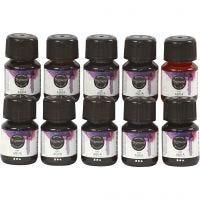 Liquid WaterColour, assorted colours, 10x30 ml/ 1 pack