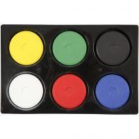 Watercolour, H: 16 mm, D: 44 mm, primary colours, 1 set
