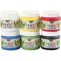 Finger Paint, assorted colours, 6x150 ml/ 1 pack