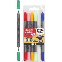 Textile marker, line 2,3+3,6 , assorted colours, 6 pc/ 1 pack