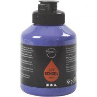 Pigment Art School Paint, semi-transparent, violet blue, 500 ml/ 1 bottle