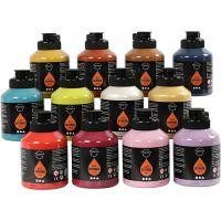 Pigment Art School Paint, additional colours, 12x500 ml/ 1 pack