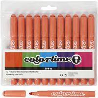 Colortime Marker, line 5 mm, mandarin, 12 pc/ 1 pack