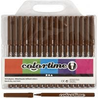 Colortime Marker, line 2 mm, brown, 18 pc/ 1 pack
