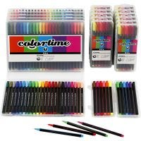 Colortime Fineliner, line 0,6-0,7 mm, assorted colours, 18 pack/ 1 pack