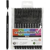 Colortime Fineliner, line 0,6-0,7 mm, black, 12 pc/ 1 pack