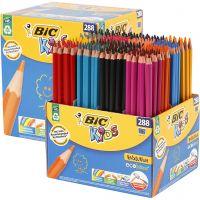 Evolution Colour Pencils, L: 17,5 cm, lead 3 mm, assorted colours, 288 pc/ 1 pack