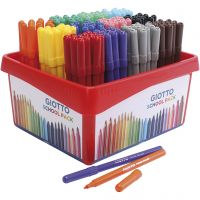 GIOTTO markers, line 2,8 mm, assorted colours, 12x12 pc/ 1 pack