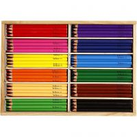 Colouring Pencils, lead 5 mm, JUMBO, assorted colours, 144 pc/ 1 pack