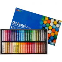 Mungyo Oil Pastel, L: 7 cm, thickness 11 mm, assorted colours, 48 pc/ 1 pack