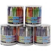 Colortime wax crayons, 5x48 asstd./ 1 set