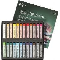 Gallery Soft Pastel Set, L: 6,5 cm, thickness 10 mm, assorted colours, 24 pc/ 1 pack