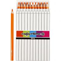 Colortime colouring pencils, L: 17,45 cm, lead 5 mm, JUMBO, orange, 12 pc/ 1 pack
