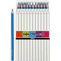 Colortime colouring pencils, L: 17,45 cm, lead 5 mm, JUMBO, blue, 12 pc/ 1 pack