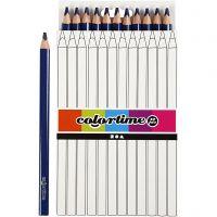 Colortime colouring pencils, L: 17,45 cm, lead 5 mm, JUMBO, dark blue, 12 pc/ 1 pack