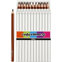 Colortime colouring pencils, L: 17,45 cm, lead 5 mm, JUMBO, brown, 12 pc/ 1 pack