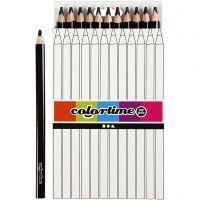Colortime colouring pencils, L: 17,45 cm, lead 5 mm, JUMBO, black, 12 pc/ 1 pack
