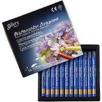 Watercolor Crayons, L: 9,3 cm, cobalt blue (338), 12 pc/ 1 pack