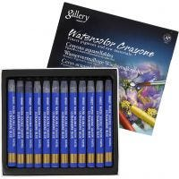 Watercolor Crayons, L: 9,3 cm, ultra marine blue (339), 12 pc/ 1 pack