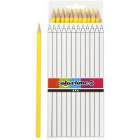 Colortime colouring pencils, L: 17 cm, lead 3 mm, yellow, 12 pc/ 1 pack