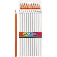 Colortime colouring pencils, L: 17 cm, lead 3 mm, orange, 12 pc/ 1 pack