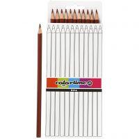 Colortime colouring pencils, L: 17 cm, lead 3 mm, brown, 12 pc/ 1 pack