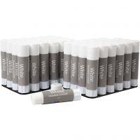 White glue stick, 48 pc/ 1 pack, 10 g